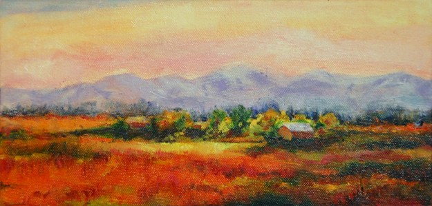 Weed Ranch, oil painting by Joan Pechanec
