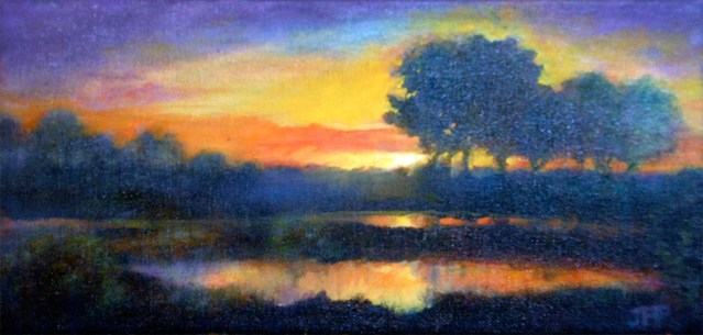 Untitled oil painting by Joan Pechanec