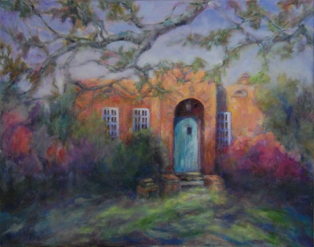 The Writers' Cottage, original oil painting by Joan Pechanec