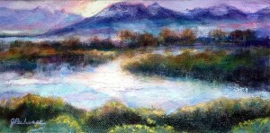 Yellowstone River, painting by Joan Pechanec
