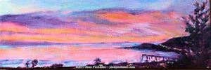 """Image of an oil painting - Coming Home Original Oil by Joan Pechanec Image Size: 12"""" x 4"""" $95"""