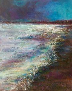 Ocean Dreams: 16 x 20 mixed media painting