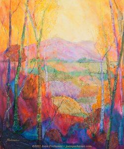 Autumn Light ~ Mixed Media on Birchwood Panel ~ 19 1/2 x 24 x 1 3/4 ~ $750