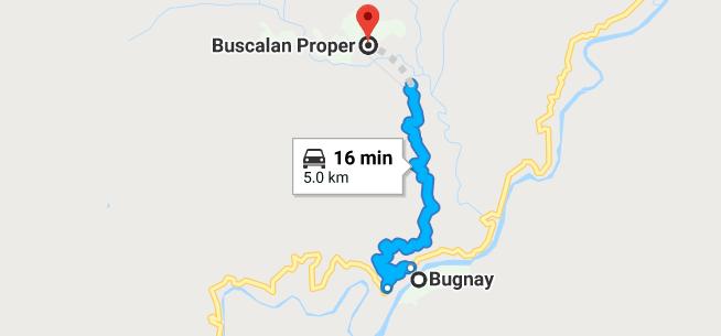 buscalan DIY itinerary trekking