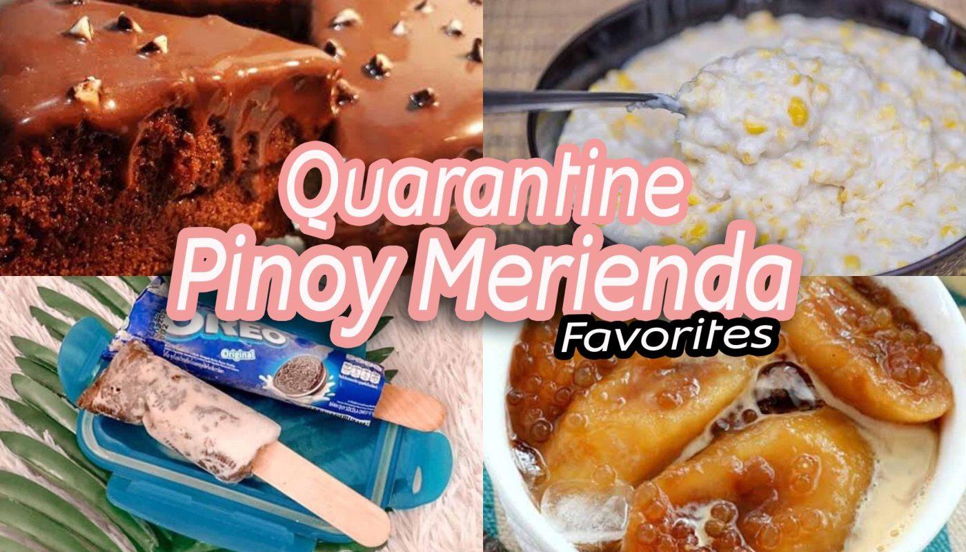 Quarantine pinoy Merienda