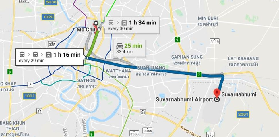 Mo Chit Bus Terminal to BKK Airport