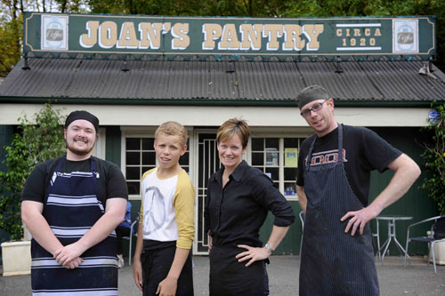 Joan's Pantry & staff before the renovation