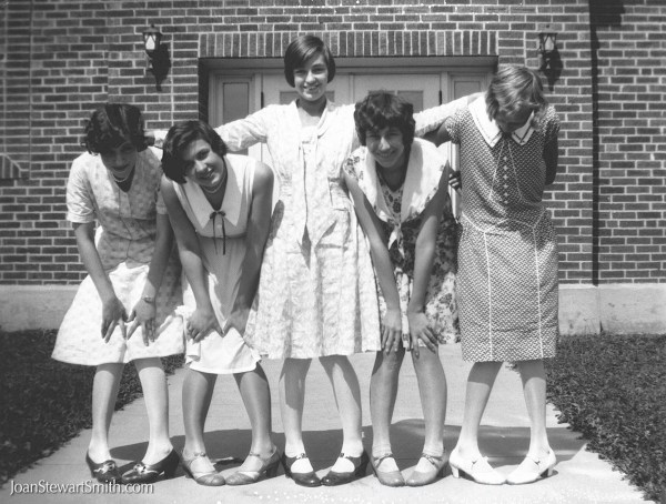 Group of young girls thigh school 1928