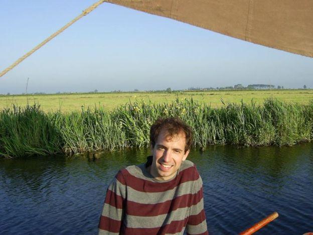 Beautiful Dutch landscape from a sailboat trip to Marken (Netherlands)