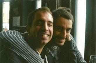 With Néstor Giménez in London (October 2013)