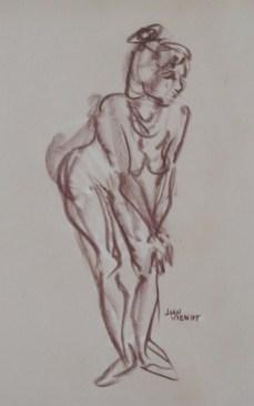 Female Gesture Standing, Leaning on Knee