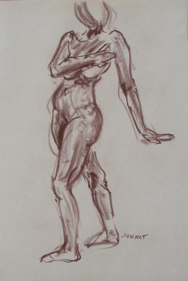 Female Standing Gesture, Twisting
