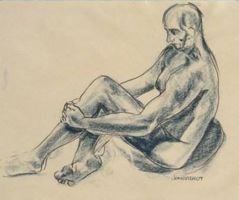 Male Gesture, Seated on Floor