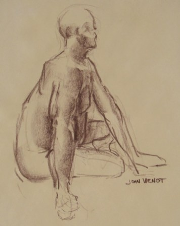 Male Gesture, Seated