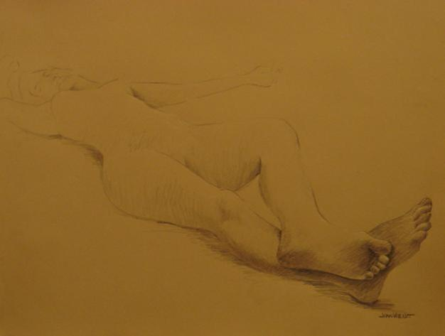 Depth Exercise Feet, Foreshortened