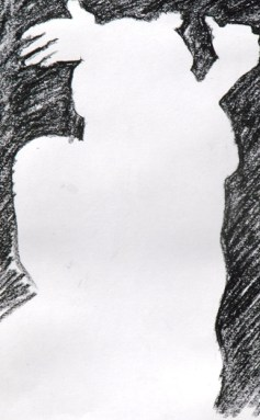 Negative space Warm-up, crossed arms