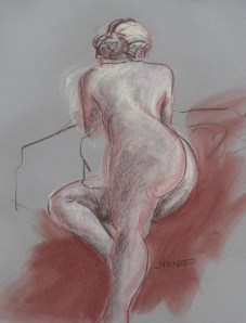2011-0119 10 minute sketch, reclining with twist