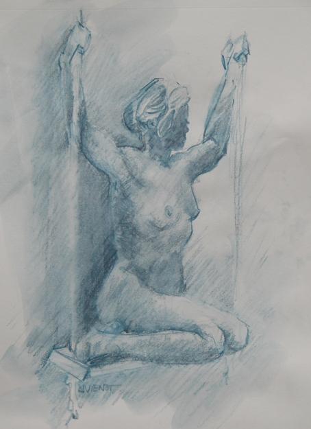 2011-0707 Figure on a Swing, Blue