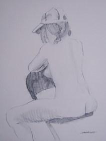 2011-0727 Sitting, with ballcap