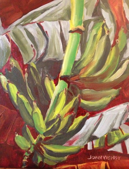 Oil Painting of Bananas on North Caicos