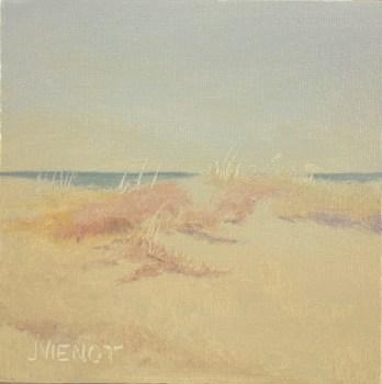 Oil painting of dune grasses at Henderson Beach State Park, Destin, FL