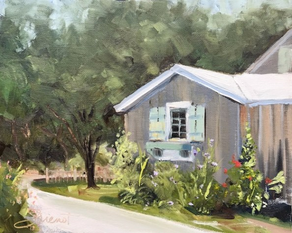 Oil painting of General Miller's relocated house, in Point Washington, FL