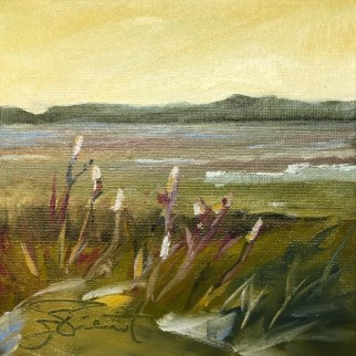 Oil painting of the marsh at Sea Island, completely reworked since originally painted in 2013