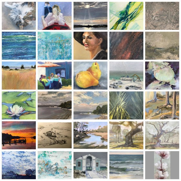 Collage of the 30 Paintings in 30 Days artwork