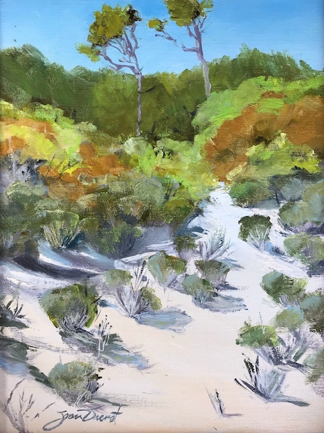 Oil painting of the landscape beside the path to the beach in Resort Village of the Plantation on St. George Island, FL