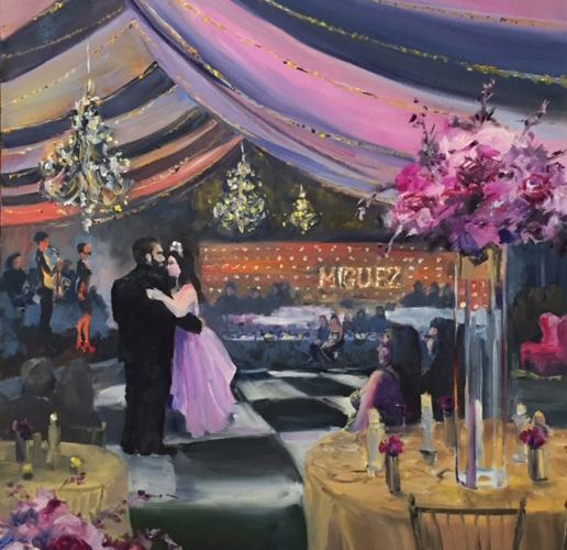 Joan Vienot Wedding Painter