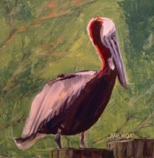 Oil Painting of Pelican on Providenciales