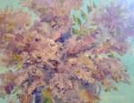 Oil painting of crepe myrtle flowers, in Julie Gilbert Pollard workshop