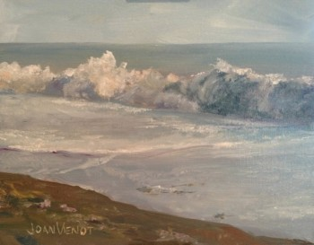 Oil painting of wave, in Julie Gilbert Pollard workshop