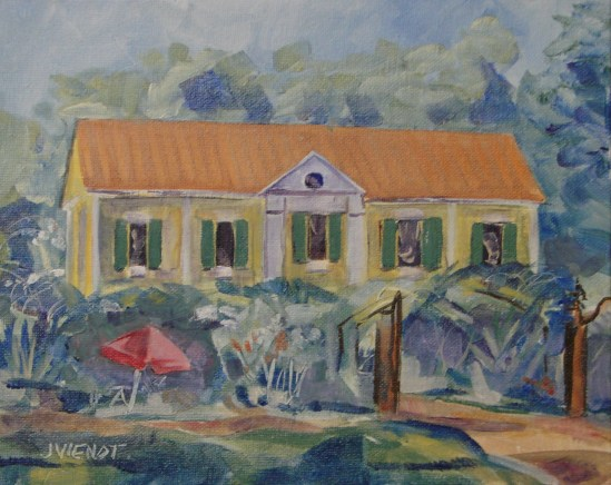 Oil Painting of Grayt Grounds of Monet Monet, modeled after Giverny