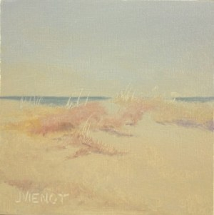 Oil painting of dune grasses at Henderson Beach State Park, Destin, FL