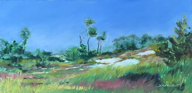 Oil painting of the fall grasses in the sunes of Grayton Beach State Park
