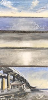 Oil studies of the light on the water at Thomas Pilcher Park in Santa Rosa Beach, FL