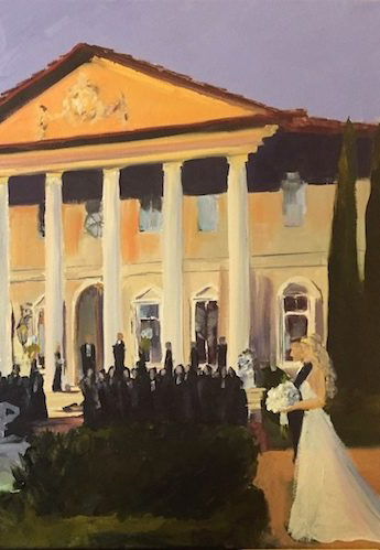 Wedding Painting Alex Anne Garrett en plein air detail