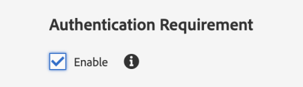 authentication requirement in AEM