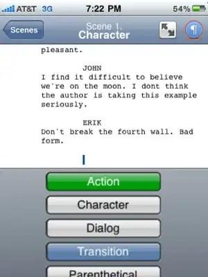 Programa de guionismo para o iPhone e iPad