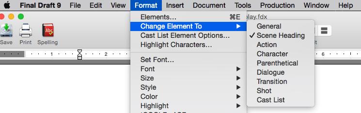 Change element