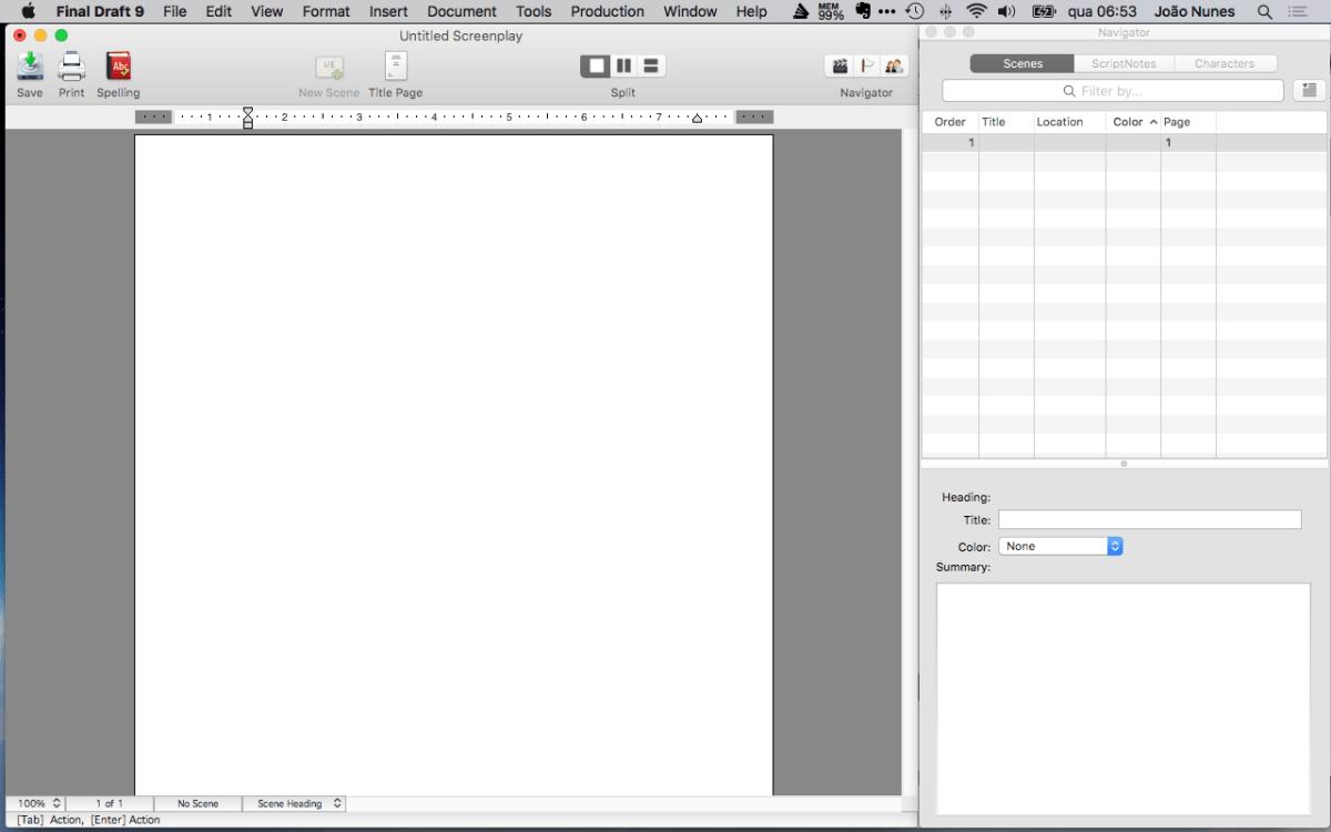 aplicativos de escrita-final draft