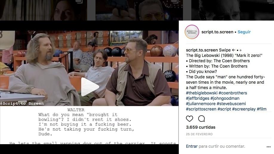 script.to.screen big lebowwski