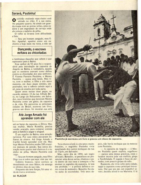 Mestre Pastinha na Revista Placar – dez 1979 (3)