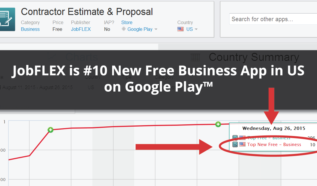 JobFLEX Hits Top 10 New Free Business Apps on Google Play