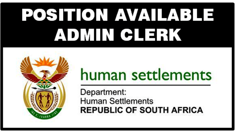 ADMINISTRATION CLERK, DIRECTORATE: HUMAN SETTLEMENT PROJECT ADMINISTRATION