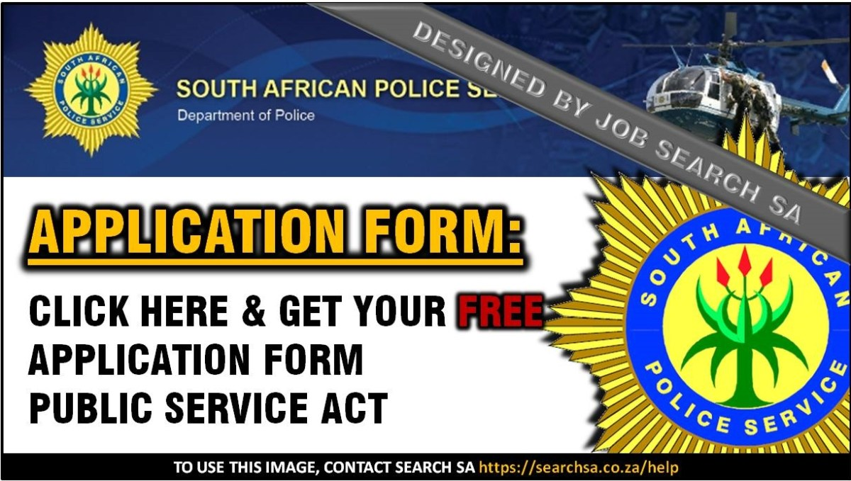 SA POLICE APPLICATION FORM PUBLIC SERVICE ACT