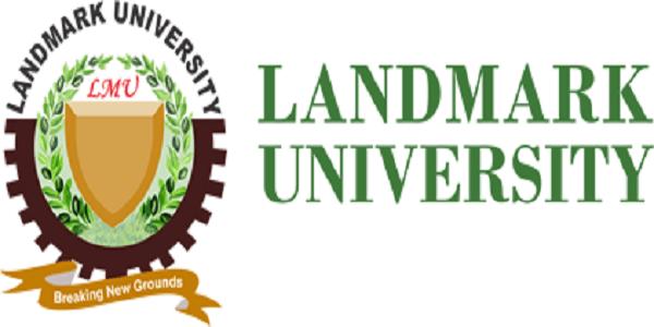 landmark university departmental cut off mark 2020, courses & school fees