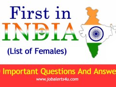list of first in India - Females