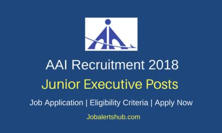 AAI 2018 Junior Executive Officer Posts – 542 Vacancies   B.E/B.Tech + GATE Score   Apply Now